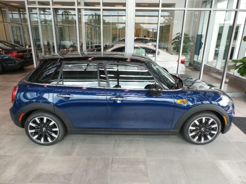 Deep Blue Metallic Mini Hardtop Cooper 4 Door.  Click to enlarge.