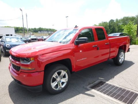 Red Hot Chevrolet Silverado 1500 Custom Double Cab 4x4.  Click to enlarge.