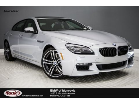 Glacier Silver Metallic BMW 6 Series 640i Gran Coupe.  Click to enlarge.
