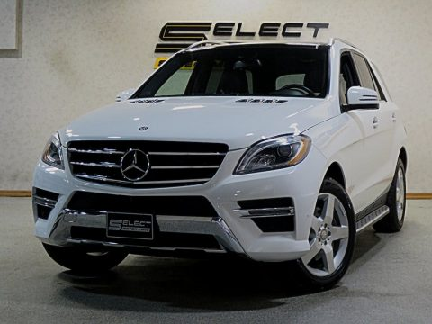 Polar White Mercedes-Benz ML 350 4Matic.  Click to enlarge.
