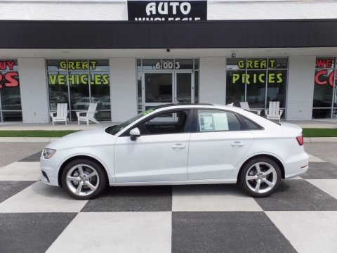 Glacier White Metallic Audi A3 1.8 Premium.  Click to enlarge.