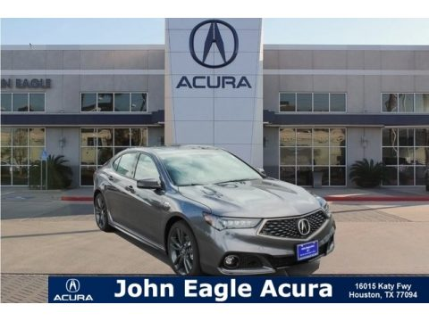 Modern Steel Metallic Acura TLX V6 SH-AWD A-Spec Sedan.  Click to enlarge.