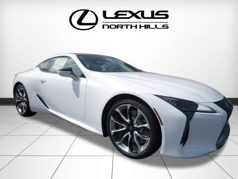 Ultra White Lexus LC 500.  Click to enlarge.