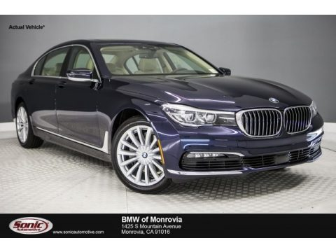 Imperial Blue Metallic BMW 7 Series 740i Sedan.  Click to enlarge.