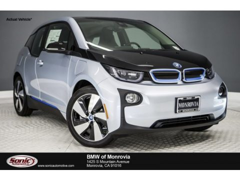 Ionic Silver Metallic BMW i3 with Range Extender.  Click to enlarge.