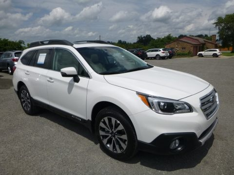 Crystal White Pearl Subaru Outback 2.5i Limited.  Click to enlarge.