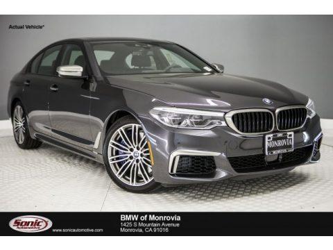 Dark Graphite Metallic BMW 5 Series M550i xDrive Sedan.  Click to enlarge.