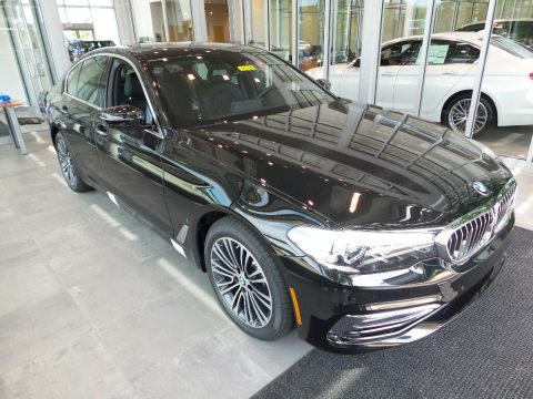 Jet Black BMW 5 Series 530e iPerfomance xDrive Sedan.  Click to enlarge.
