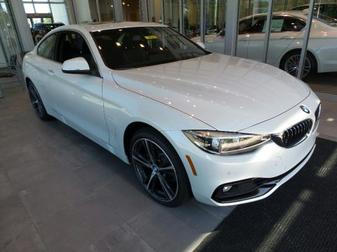 Mineral White Metallic BMW 4 Series 430i xDrive Coupe.  Click to enlarge.