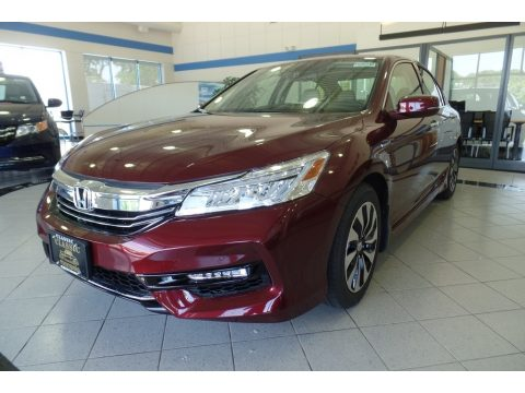 Crimson Pearl Honda Accord Hybrid Touring Sedan.  Click to enlarge.