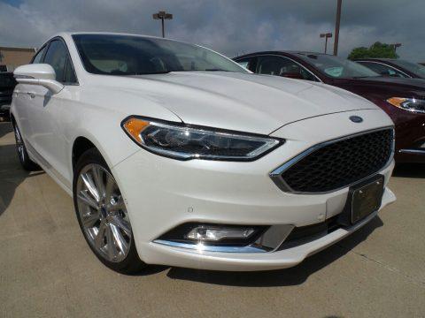 White Platinum Ford Fusion Titanium AWD.  Click to enlarge.