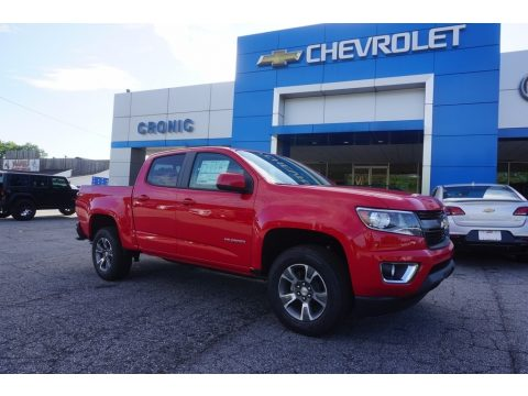 Red Hot Chevrolet Colorado Z71 Crew Cab.  Click to enlarge.