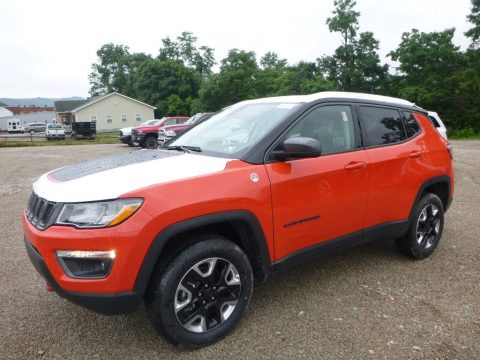 Spitfire Orange Jeep Compass Trailhawk 4x4.  Click to enlarge.