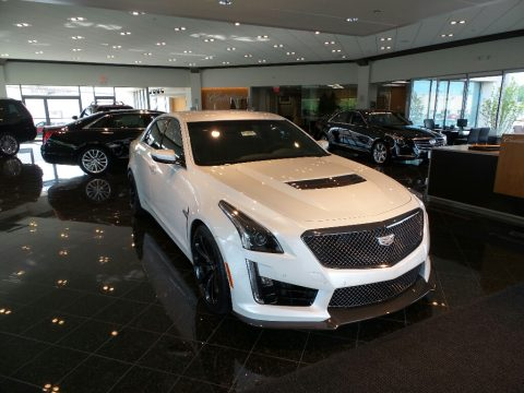 Crystal White Tricoat Cadillac CTS V Sedan.  Click to enlarge.