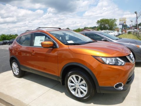 Monarch Orange Nissan Rogue Sport SV AWD.  Click to enlarge.
