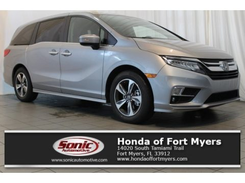 Lunar Silver Metallic Honda Odyssey Touring.  Click to enlarge.
