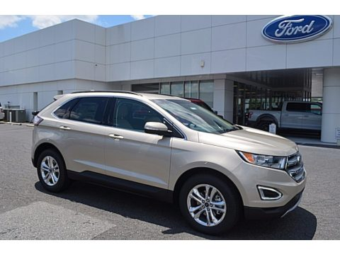 White Gold Metallic Ford Edge SEL.  Click to enlarge.