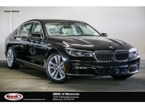 Black Sapphire Metallic BMW 7 Series 750i Sedan.  Click to enlarge.