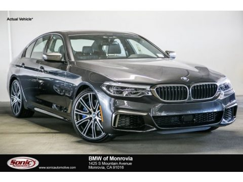 Dark Graphite Metallic BMW 5 Series M550i xDrive Sedan.  Click to enlarge.
