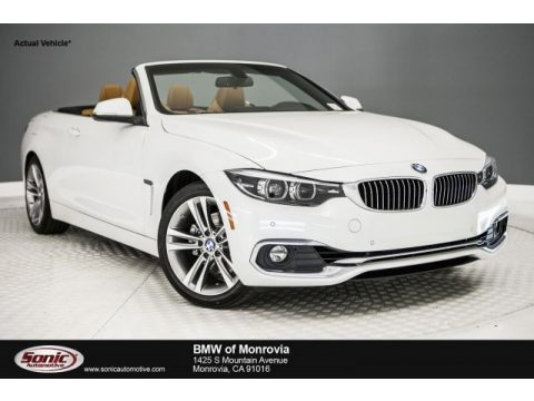 Mineral White Metallic BMW 4 Series 430i Convertible.  Click to enlarge.