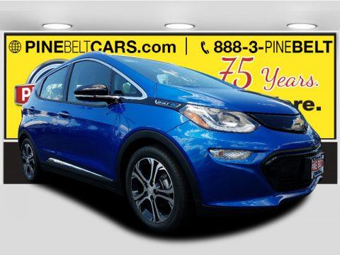 Kinetic Blue Metallic Chevrolet Bolt EV Premier.  Click to enlarge.