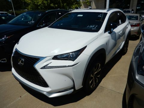 Ultra White Lexus NX 200t F Sport AWD.  Click to enlarge.
