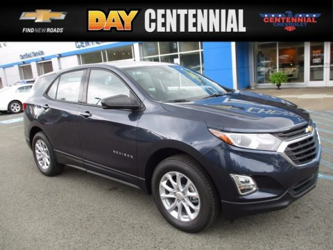 Storm Blue Metallic Chevrolet Equinox LS AWD.  Click to enlarge.