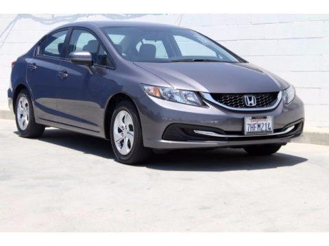 Urban Titanium Metallic Honda Civic LX Sedan.  Click to enlarge.