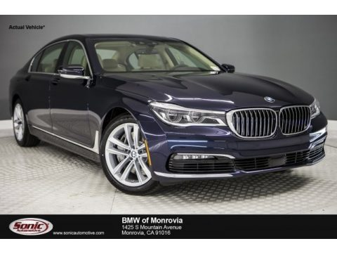 Imperial Blue Metallic BMW 7 Series 750i Sedan.  Click to enlarge.
