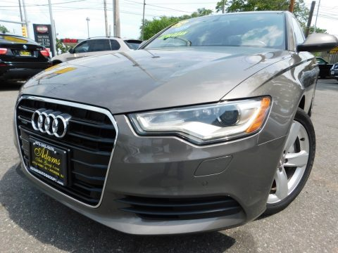 Quartz Gray Metallic Audi A6 3.0T quattro Sedan.  Click to enlarge.