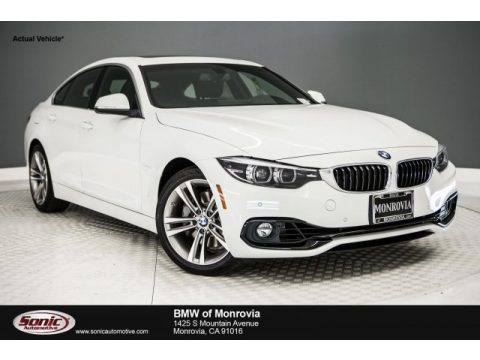 Alpine White BMW 4 Series 440i Gran Coupe.  Click to enlarge.