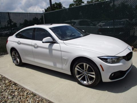 Alpine White BMW 4 Series 430i xDrive Gran Coupe.  Click to enlarge.