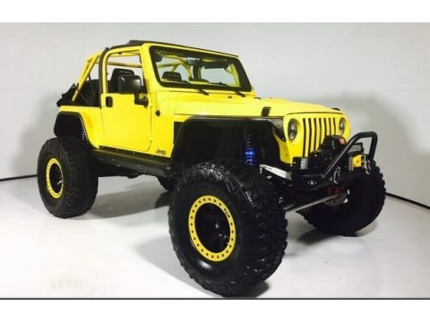 Solar Yellow Jeep Wrangler Sport 4x4.  Click to enlarge.