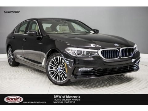 Jet Black BMW 5 Series 530e iPerfomance Sedan.  Click to enlarge.