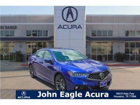 Still Night Blue Pearl Acura TLX V6 A-Spec Sedan.  Click to enlarge.