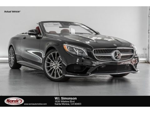 Magnetite Black Metallic Mercedes-Benz S 550 Cabriolet.  Click to enlarge.