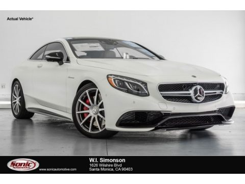 designo Cashmere White (Matte) Mercedes-Benz S 63 AMG 4Matic Coupe.  Click to enlarge.