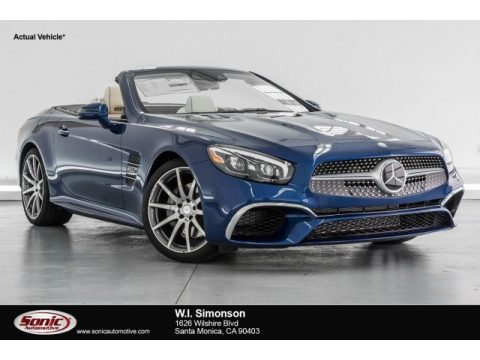 Brilliant Blue Metallic Mercedes-Benz SL 550 Roadster.  Click to enlarge.
