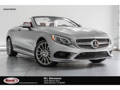 designo Alanite Grey Magno (Matte) Mercedes-Benz S 550 Cabriolet.  Click to enlarge.