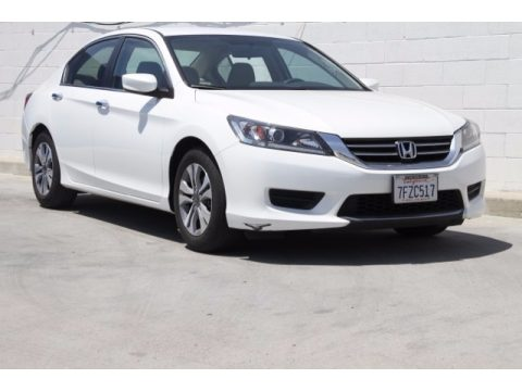 White Orchid Pearl Honda Accord LX Sedan.  Click to enlarge.