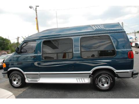 Dark Spruce Green Metallic Dodge Ram Van 1500 Passenger Conversion Click To Enlarge
