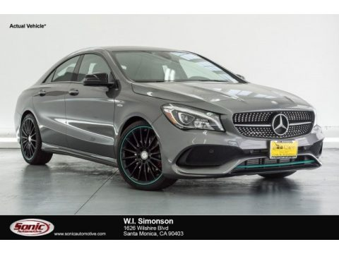 Mountain Grey Metallic Mercedes-Benz CLA 250 4Matic Coupe.  Click to enlarge.