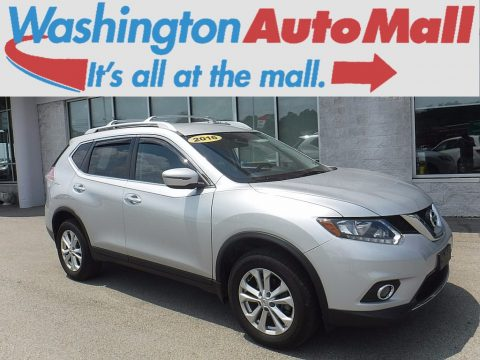 Brilliant Silver Nissan Rogue SV AWD.  Click to enlarge.