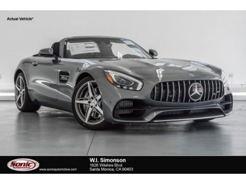 Selenite Grey Metallic Mercedes-Benz AMG GT Roadster.  Click to enlarge.