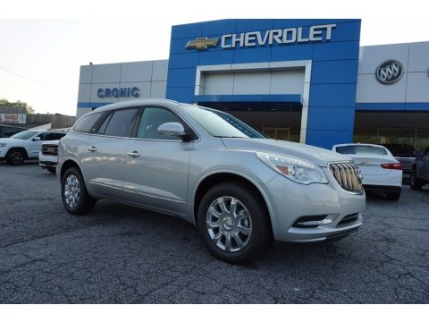 Quicksilver Metallic Buick Enclave Leather.  Click to enlarge.