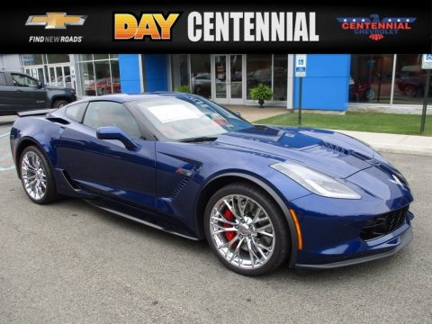 Admiral Blue Metallic Chevrolet Corvette Z06 Coupe.  Click to enlarge.