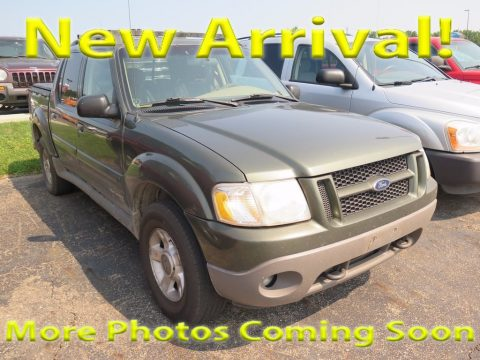 Estate Green Metallic Ford Explorer Sport Trac 4x4.  Click to enlarge.