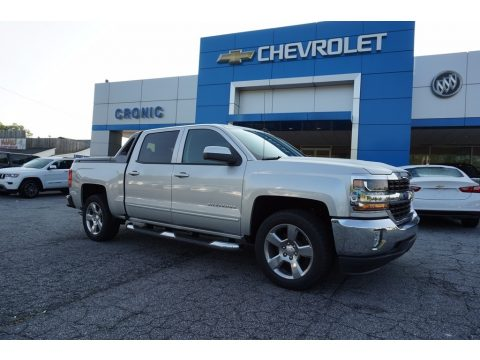 Silver Ice Metallic Chevrolet Silverado 1500 LT Crew Cab.  Click to enlarge.