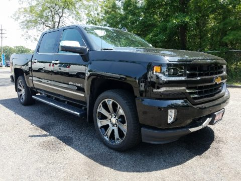 Black Chevrolet Silverado 1500 LTZ Crew Cab 4x4.  Click to enlarge.