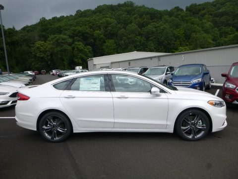 White Platinum Ford Fusion Sport AWD.  Click to enlarge.